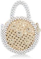 Rosantica Alida Beaded Circle Top Handle Bag