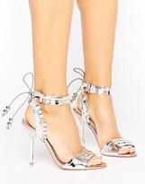 Miss KG Freya Metallic Tie Heeled Sandals