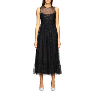 RED Valentino Dress Long Dress In Tulle With Glitter Polka Dots