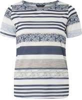 Dorothy Perkins Blue and Ivory textured stripe Tee