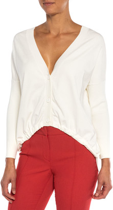 Santorelli Libra High-Low Knit Cardigan