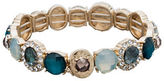 lonna & lilly Crystal Accented Wide Stretch Bracelet