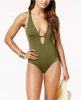 Vince Camuto Riviera Plunge Cheeky One-Piece Swimsuit Women's Swimsuit