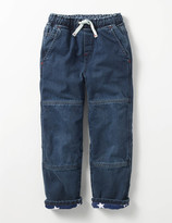 Boden Lined Denim Pull-on Trousers