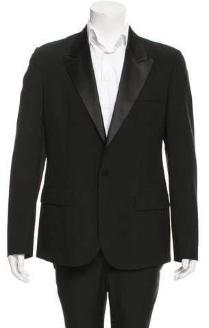 Maison Margiela Wool Satin-Trimmed Blazer w/ Tags