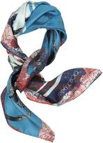 Jimmy Choo Lace and Shoes Printed Silk Square Scarf