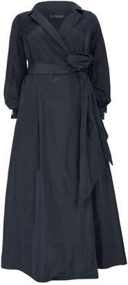 Marina Rinaldi Tie-Waist Trench Gown