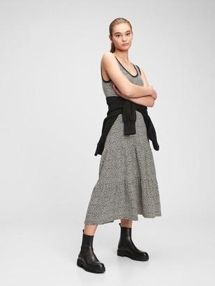 Gap Sleeveless Tiered Maxi Dress