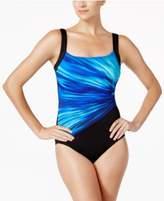 Reebok Bright Horizon Printed Active One-Piece Swimsuit