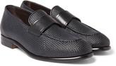 Ermenegildo Zegna - Pelle Tessuta Leather Loafers