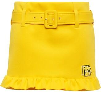 Prada Belted Short Skirt