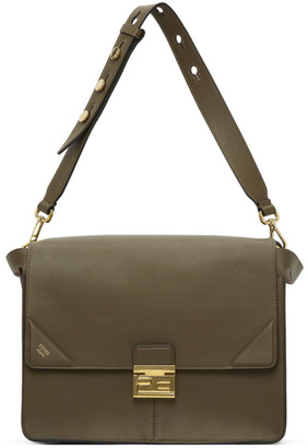 Fendi Khaki Large Kan U Bag