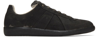 Maison Margiela Black Coated Replica Sneakers