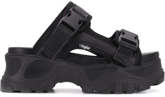 Buffalo David Bitton Buckled Platform Sandals
