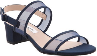 Nina Low-Heel Mesh Double-Banded Sandals - Ganice