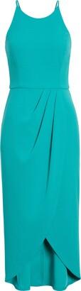 Charles Henry Tulip Jersey Midi Dress