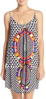 Red Carter Women's Print Cover-Up Minidress