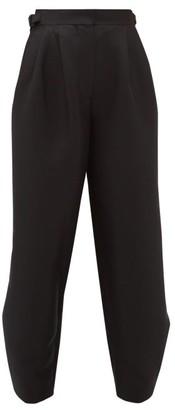 Roksanda Buckled-waist Crepe Tailored Trousers - Black