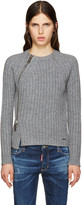 DSQUARED2 Grey Zip Sweater