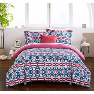 Chic Home Chiko 6 Piece Reversible Bed in a Bag Duvet Cover Set