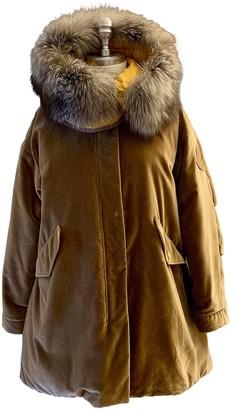Moncler Camel Cotton Coat for Women