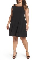 Vince Camuto Plus Size Women's Scuba Crepe Cold Shoulder Dress