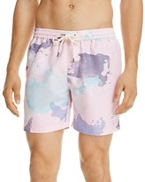DUVIN Abstract Print Volley Swim Trunks