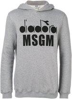 MSGM x Diadora logo print hoodie - men - Cotton/Viscose - S