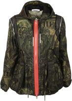 Givenchy Khaki Dollar Print Hooded Jacket