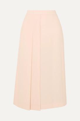 Max Mara Pleated Cady Midi Skirt - Pink