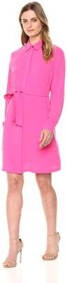 Nine West Women's Crepe Trench Coat Dress with SELF TIE
