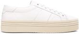 Saint Laurent Leather Court Classic Platform Sneakers