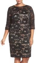 Adrianna Papell 'Carol' Lace Sheath Dress (Plus Size)