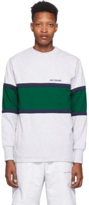 Aimé Leon Dore Grey Chest Stripe Long Sleeve T-Shirt