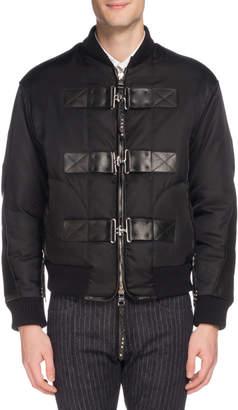 Alexander McQueen Men's Cabah Buckle-Strap Jacket