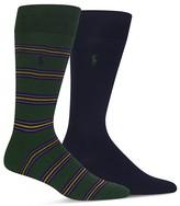 Polo Ralph Lauren Multistripe & Solid Dress Socks - Pack of 2