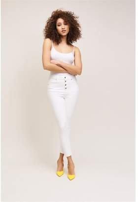 Dynamite Kate Button Front Skinny Jeans - FINAL SALE Bright White