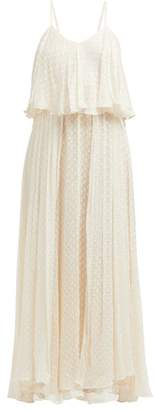 Mes Demoiselles Donatella Fil Coupe Tiered Maxi Dress - Womens - Ivory