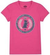 Juicy Couture Girls Logo Scottie Crest Short Sleeve Tee