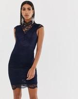 TFNC cap sleeve lace pencil midi dress