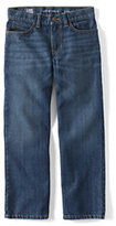 Classic Little Boys Slim Iron Knee Relaxed Fit Jeans-Dark Wash