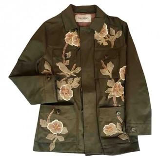 Valentino Khaki Cotton Coat for Women