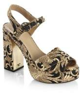 Tory Burch Loretta Embroidered Platform Sandals