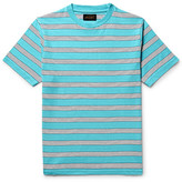 Beams Striped Cotton-jersey T-shirt - Turquoise