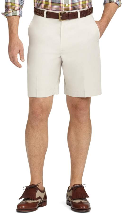 Brooks Brothers St Andrews Links Plain-Front Shorts