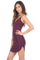 AX Paris Plum Faux Suede Mini Dress