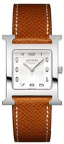 Hermes Heure H Watch on a Gold Grained Calf Strap