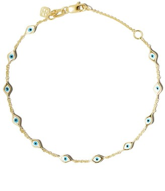 Sydney Evan 14kt yellow gold Evil Eye bracelet