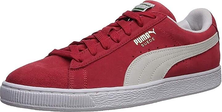 mens red puma shoes