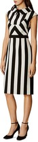 Karen Millen Striped Mock-Neck Dress